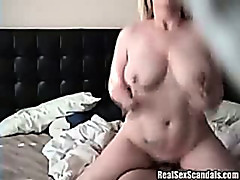 Cheating wife gets busted while fucking with her friend