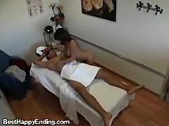 Client Has Cock Massaged By Hot Asian