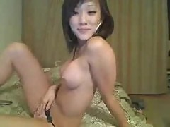 Hot Asian with perfect tits on webcam