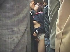 Young girl forced blowjob in train